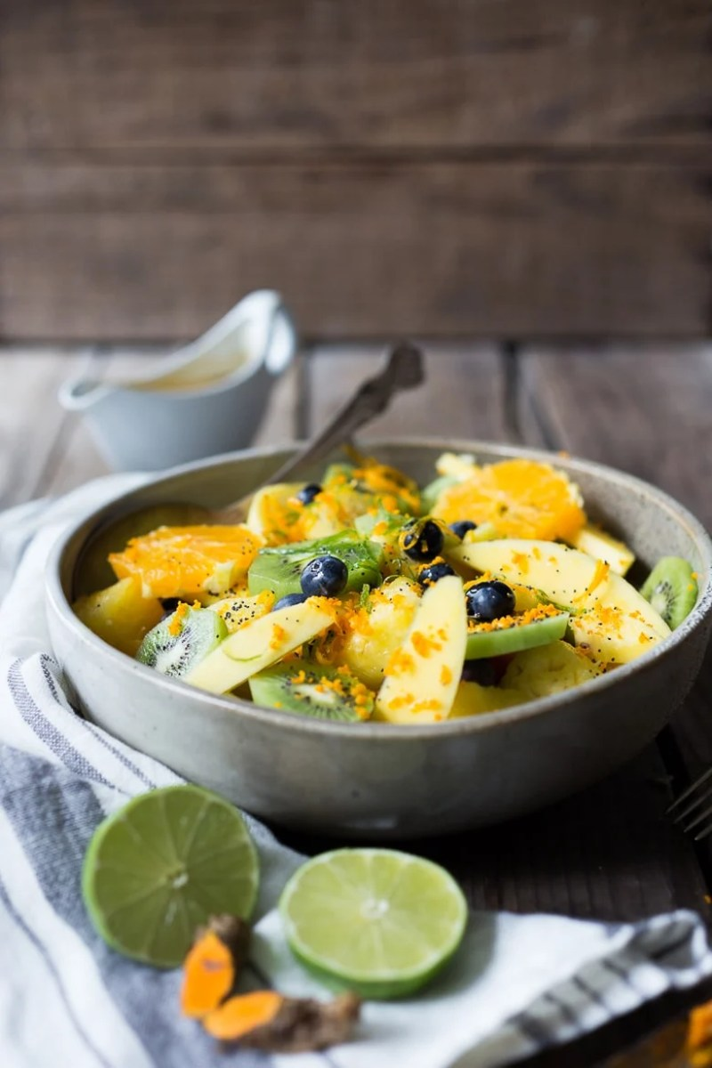 TURMERIC FRUIT SALAD WITH TOASTED COCONUT
