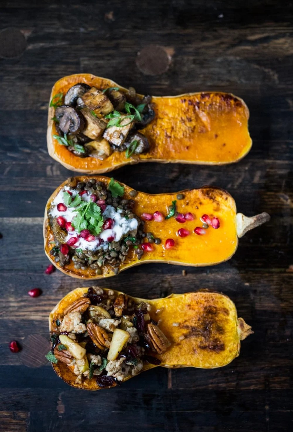 STUFFED BUTTERNUT –  THREE WAYS