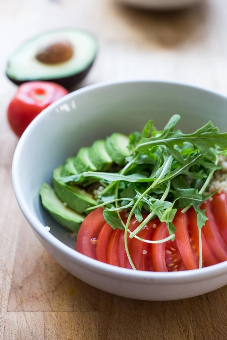 5 Morning Grain Bowls to prep ahead for the busy workweek. Healthy, gluten free and vegan adaptable.   www.feastingathome.com