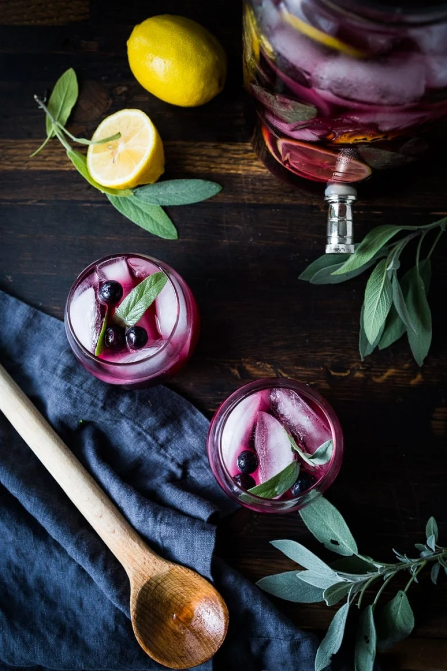 Blueberry Gin and Sage Punch