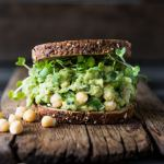 Smashed Chickpea and Avocado Sandwich- a 5 minute miracle to energize and satisfy! | www.feastingathome.com