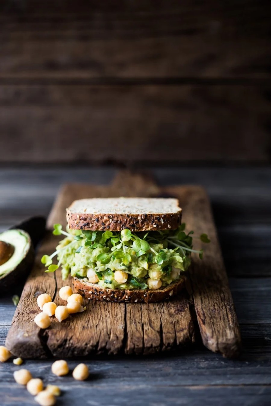 Smashed Chickpea Avocado Sandwich | Feasting At Home