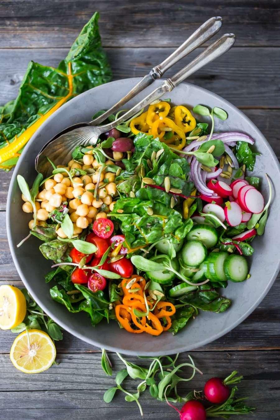 Mediterranean Chard Salad