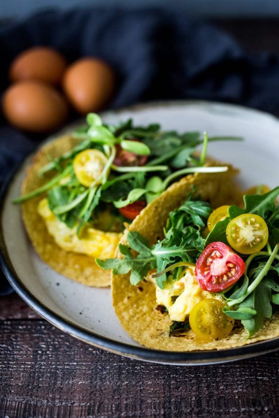 Quick Scrambled Egg Tacos