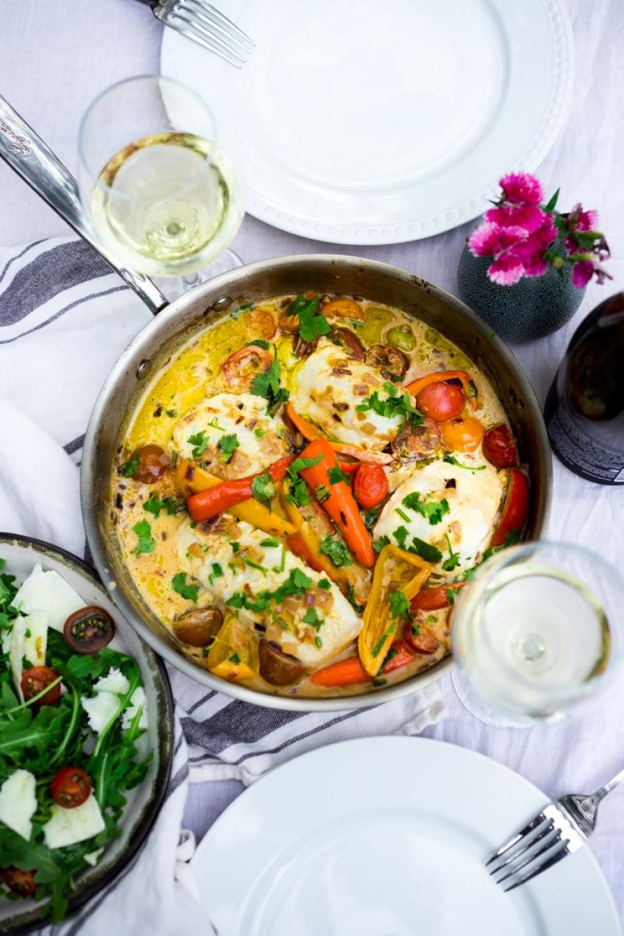 Brazilian Fish Stew - (aka Moqueca) with coconut milk, lime and jalapeño - a summery seafood dish, perfect for alfresco dining! | www.feastingathome.com #seafoodalfrescowithlagostina