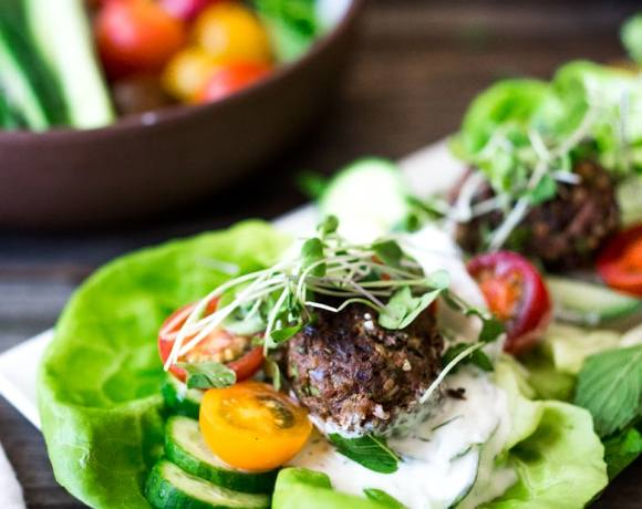 Grilled Lamb Kofta Wraps