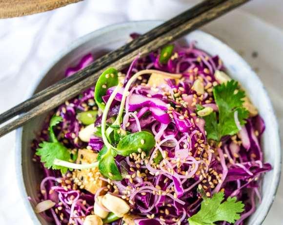 Sesame Cabbage Noodle Salad