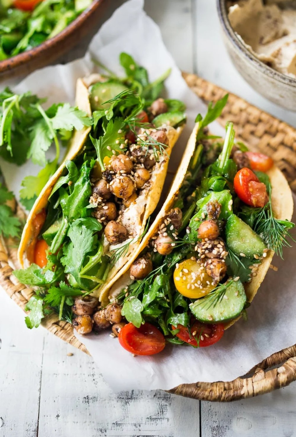 Middle Eastern Salad Tacos