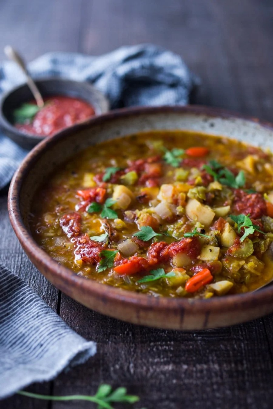 VEGAN, Make Life Simple Instant Pot Split Pea Soup with Harissa and North African Spices!