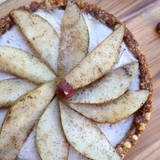 Vanilla Pear Tart with Hazelnut Cream
