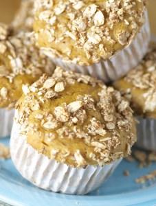 Granola-Topped Pumpkin Maple Muffins