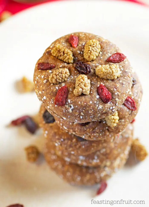 Bejeweled Maca Cookies | No-Bake, Gluten-Free, Vegan