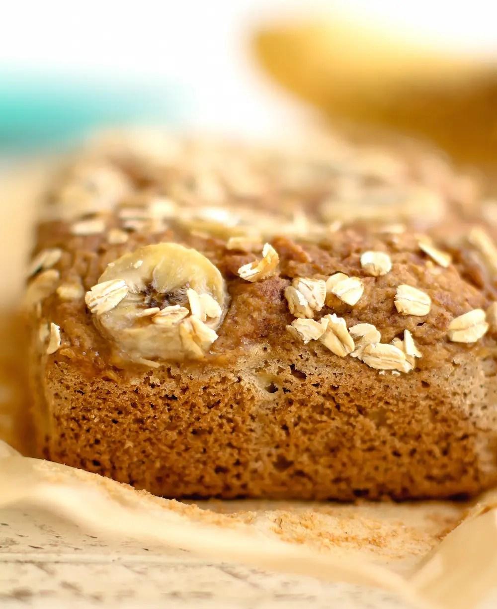 Oat flour banana bread vegan gluten free oil free sweet topped oat flour banana bread vegan gluten free oil forumfinder Images