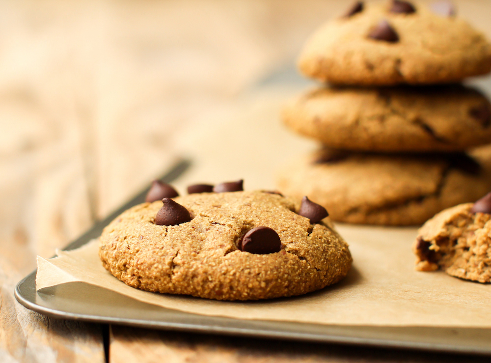 Oat Flour Chocolate Chip Cookies | Vegan, Gluten-Free, Oil-Free