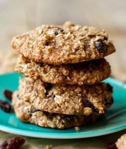 Oil-Free Crispy Oatmeal Raisin Cookies (Vegan + GF)