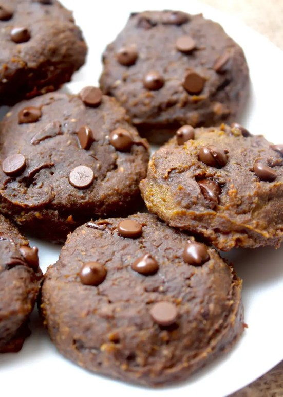 Pumpkin Chocolate Chip Chickpea Cookies