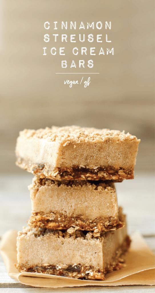 Cinnamon Streusel Ice Cream Bars (vegan + gluten-free)