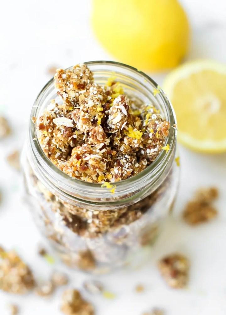 Lemon Vanilla Bean Rawnola | Vegan & Gluten-Free
