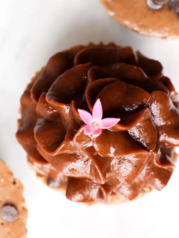 Double Chocolate Ice Cream Cupcakes | Vegan, Gluten-Free, Fruit-Sweetened