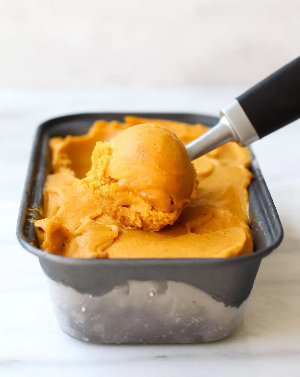 Pumpkin Banana Ice Cream | Vegan + Date-Sweetened