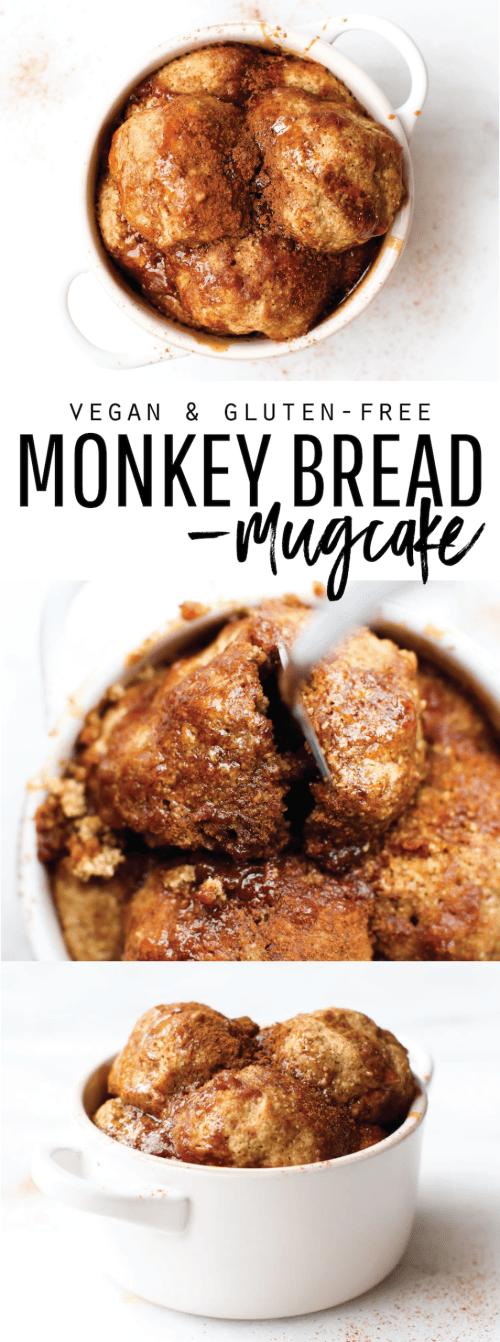 Vegan Monkey Bread Mug Cake {gluten-free & oil-free}