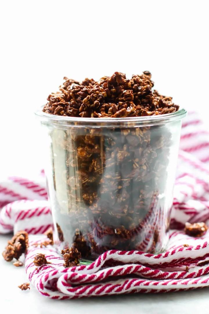 Oil-Free Chocolate Coconut Granola