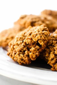 Chunky Oatmeal Gingersnap Cookies