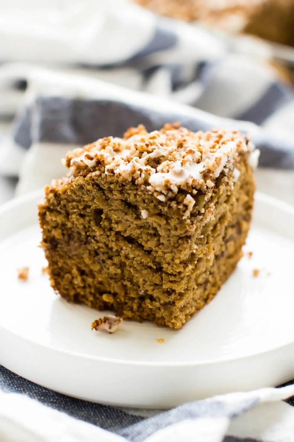 Vegan Coffee Cake {Gluten-Free & Oil-Free}
