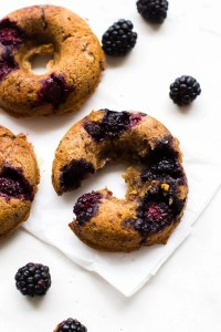 White Chocolate Blackberry Donuts