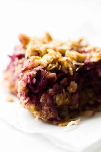 Chewy Coconut Berry Crumble Bars