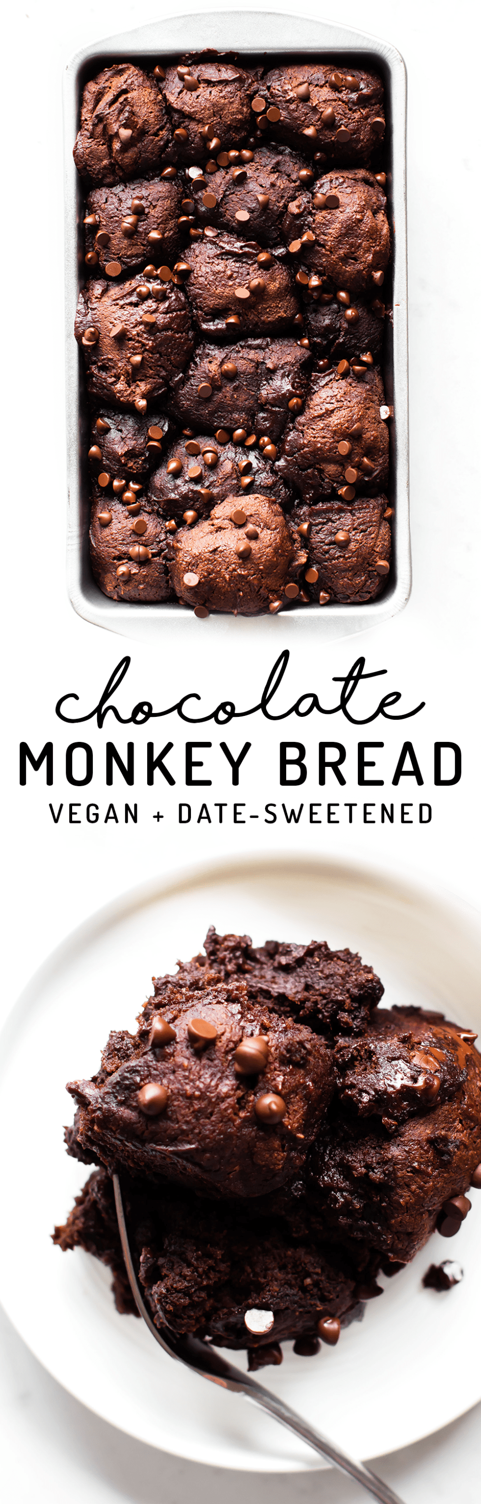 Chocolate Monkey Bread (vegan, paleo, date-sweetened)