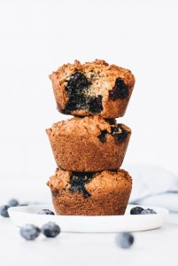 Vegan Paleo Blueberry Muffins (2 ways!)