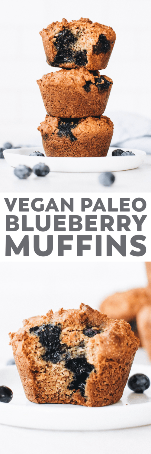 Vegan Paleo Blueberry Muffins