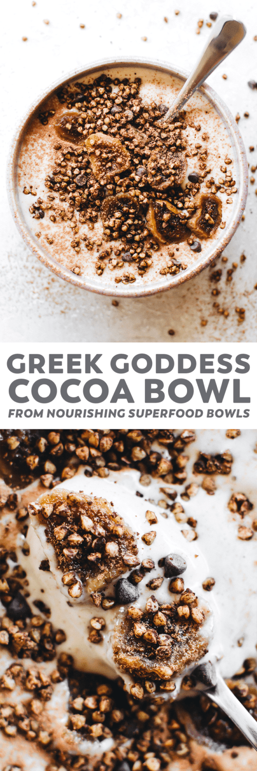 Greek Goddess Cocoa Bowl