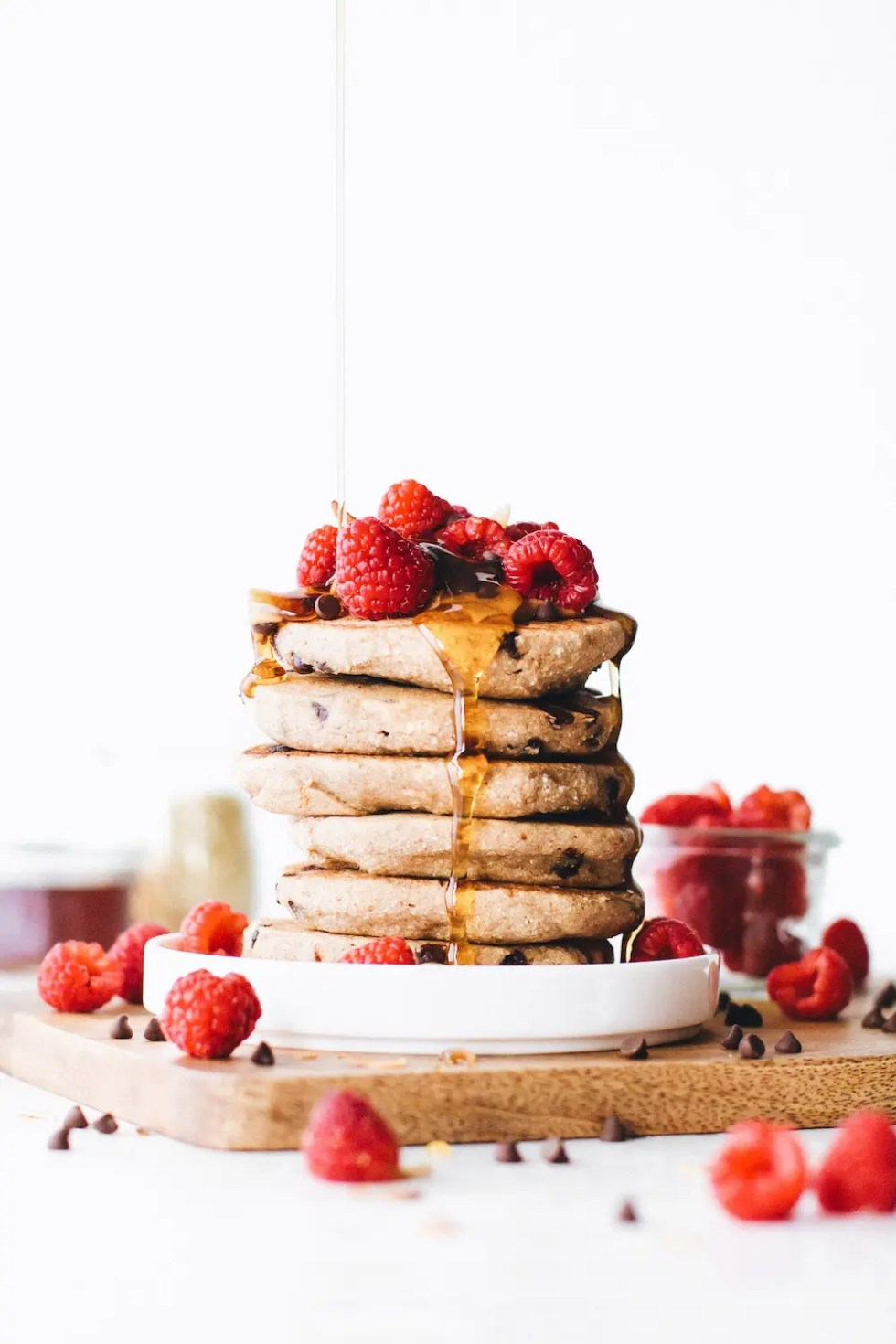 Chocolate Chip Vegan Buckwheat Pancakes