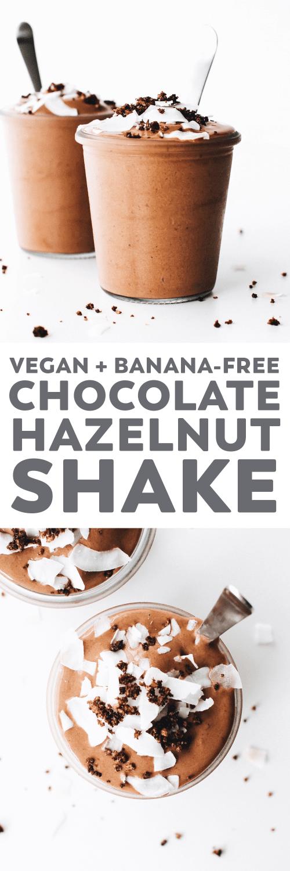 Vegan Chocolate Hazelnut Shake (or Frosty!)