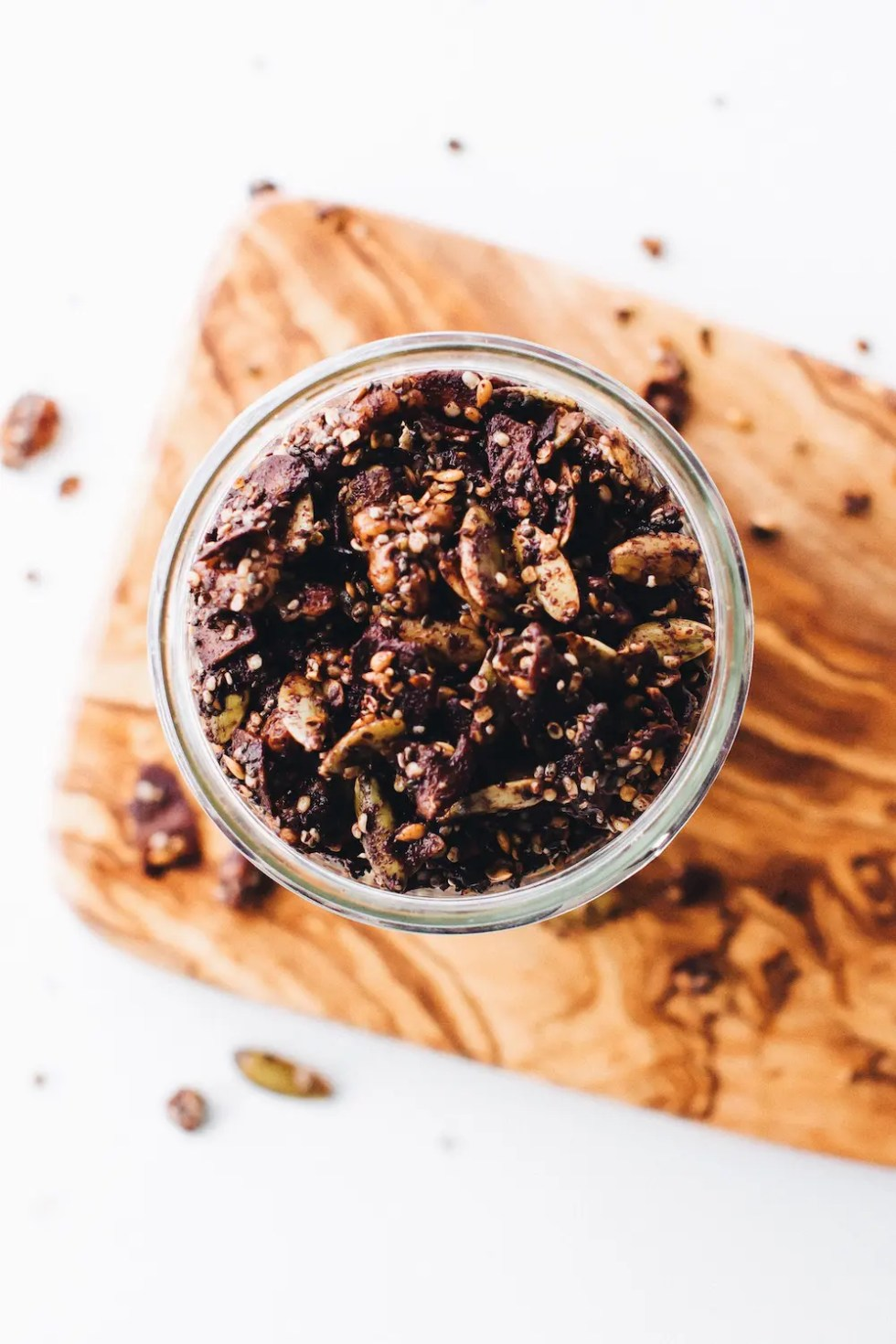 Grain-Free Chocolate Granola (vegan + paleo)