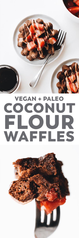 Vegan Paleo Coconut Flour Waffles