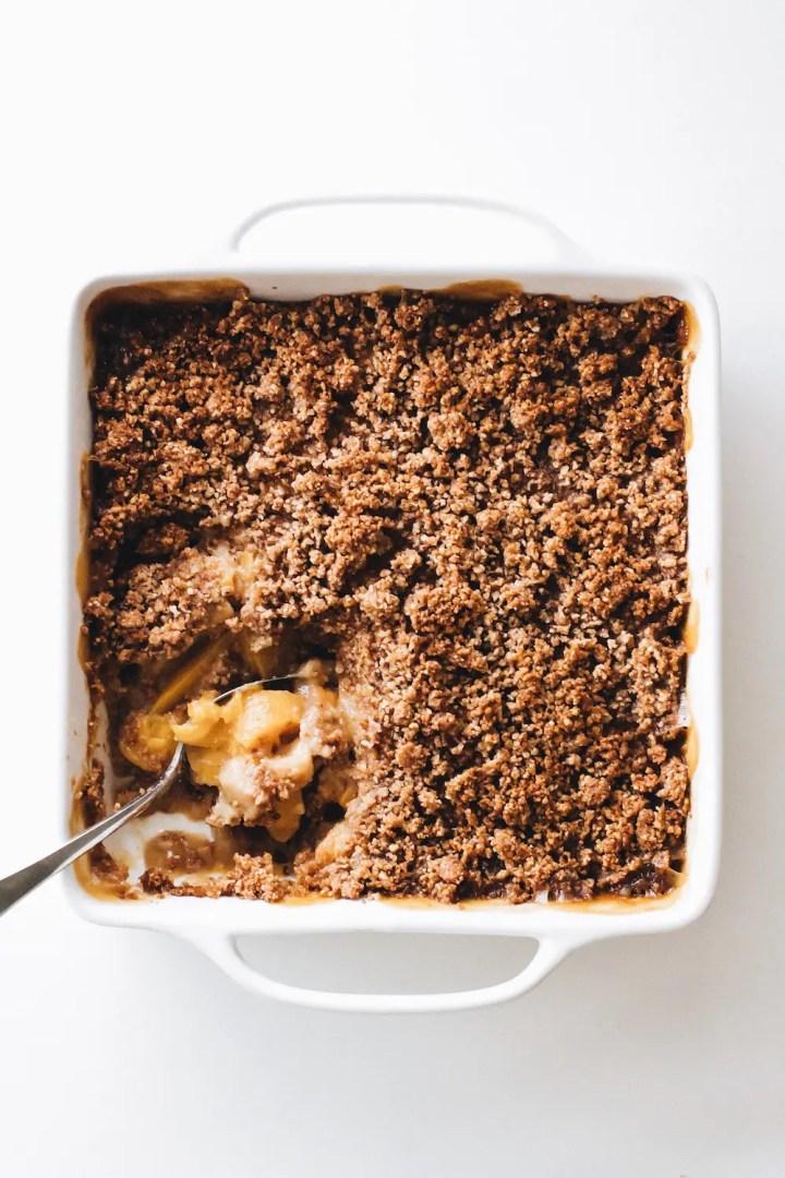 Peaches and Cream Crisp (Vegan + Paleo)