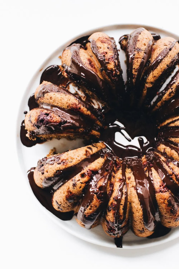 Raspberry Chocolate Chip Cake 6