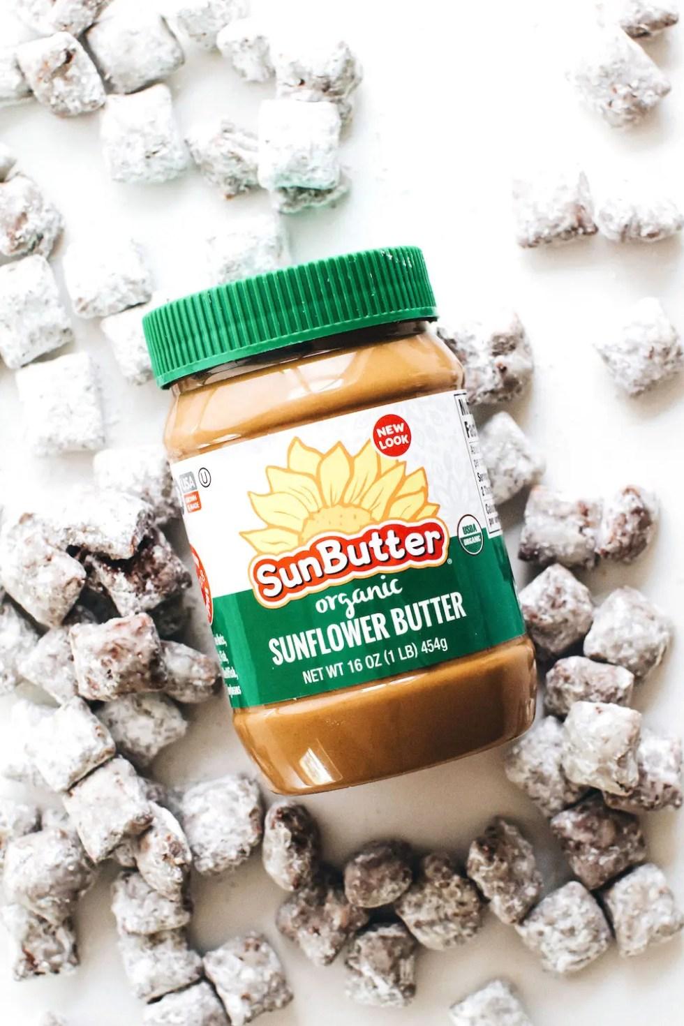 Sunbutter Muddy Buddies (vegan, gluten-free, paleo option!)