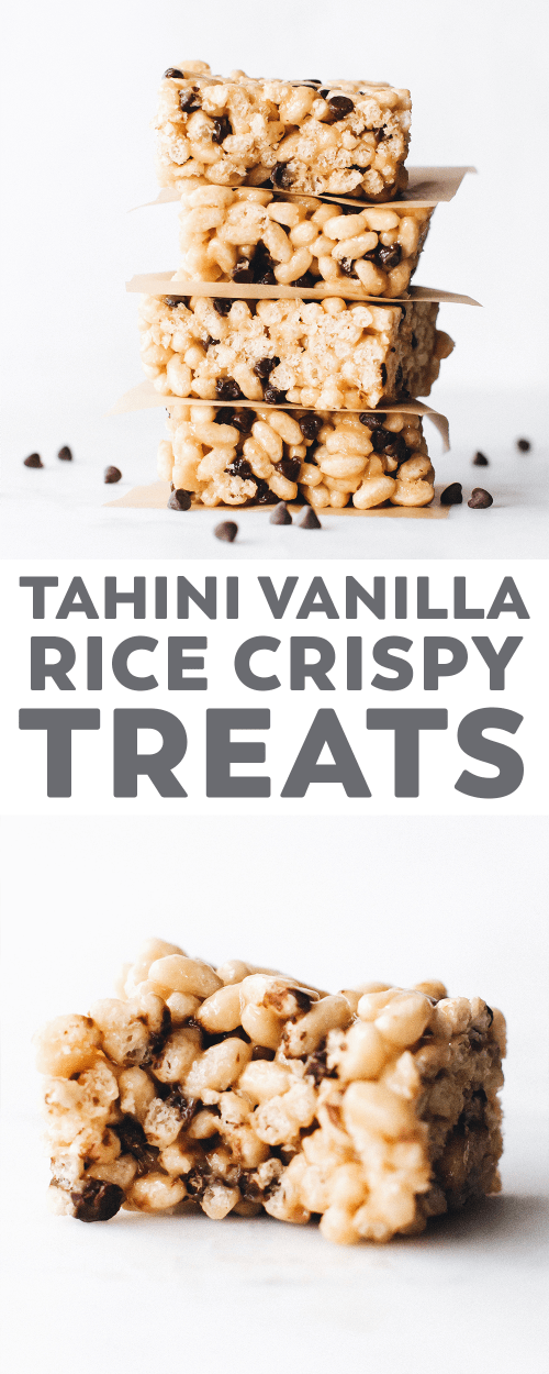 Vanilla Tahini Rice Crispy Treats