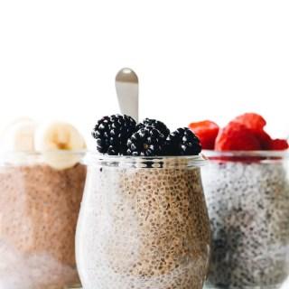 3 Latte-Inspired Chia Puddings (in the blender!)