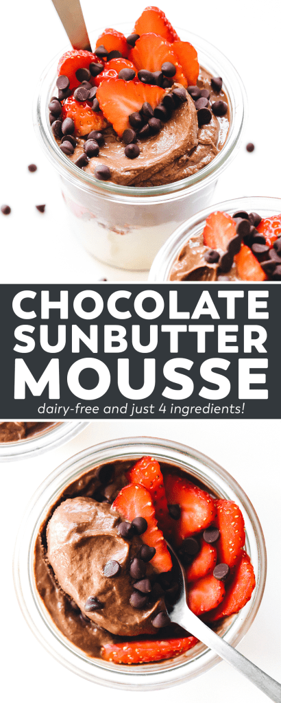 4-Ingredient SunButter Chocolate Mousse