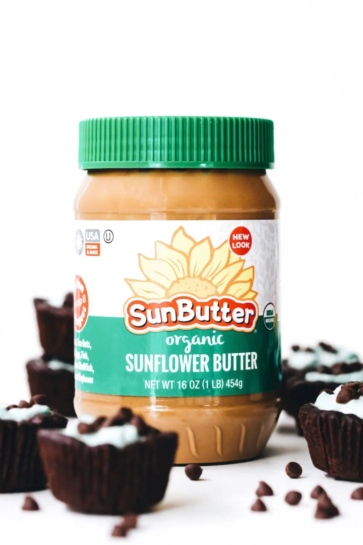 SunButter Grasshopper Cookie Cups