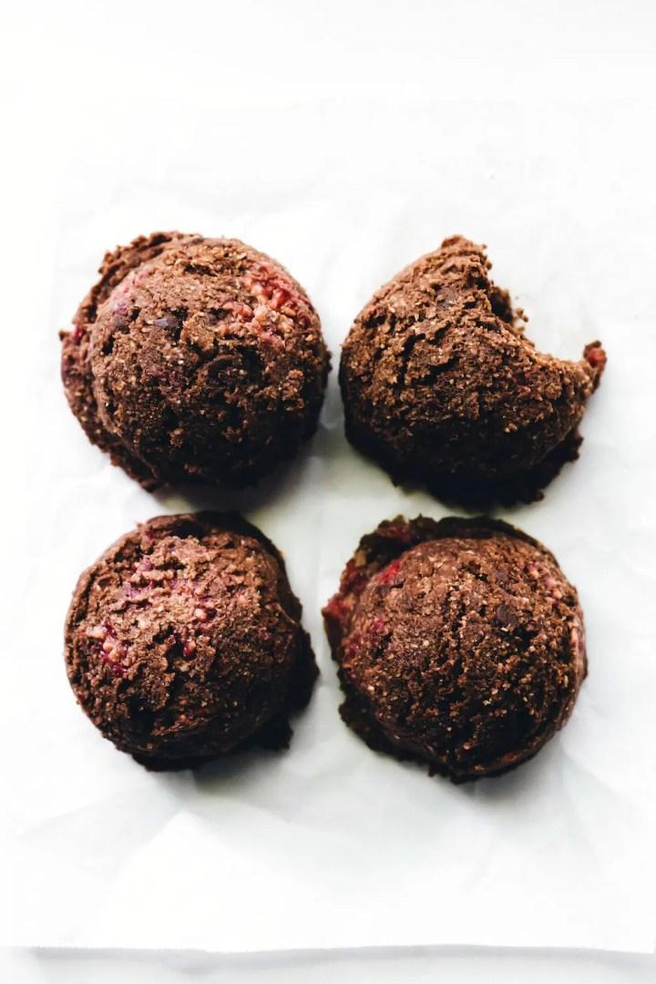 Double Chocolate Raspberry Cookie Dough