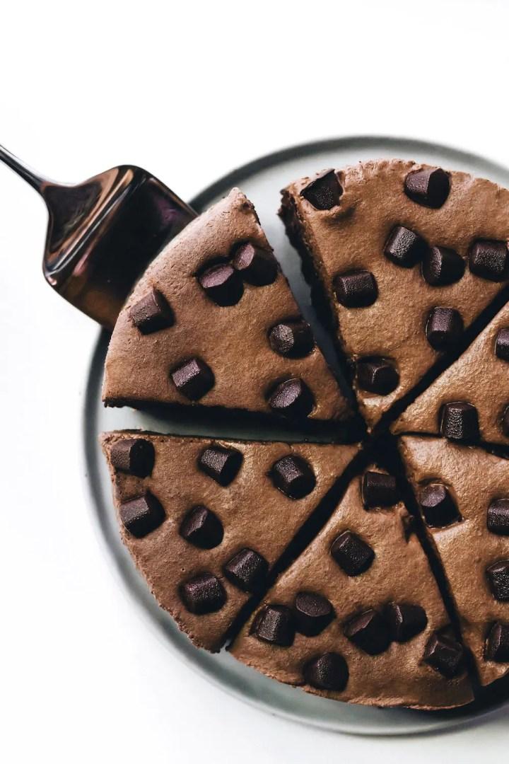 Brownie Mousse Cake (vegan + paleo)
