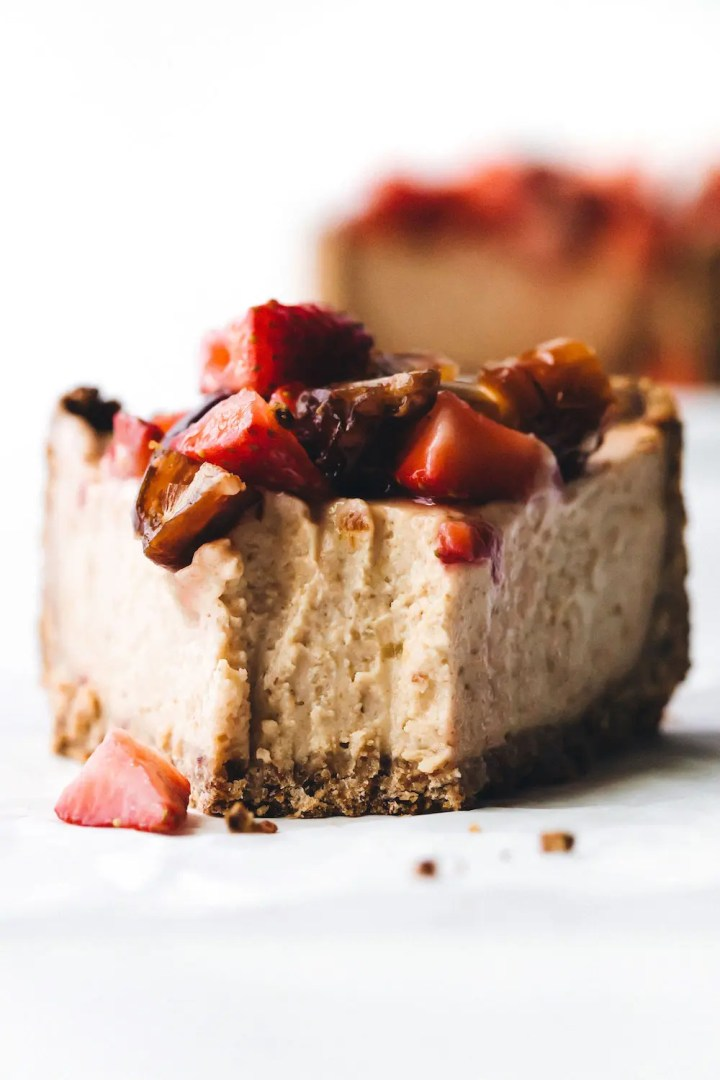 Medjool Date Baked Cheesecake