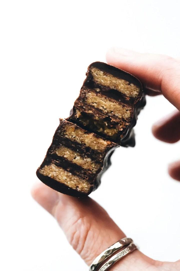 Vegan Paleo Kit Kat Bars