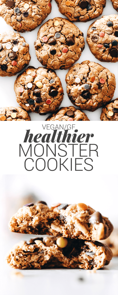Healthier Monster Cookies (vegan + gluten-free)
